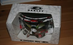 Oakley O Frame MX Brille Google Red Digital Slash Clear