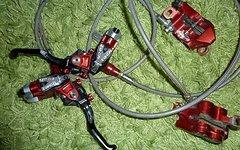 Hope Tech 2 M4 - Bloody Mary - KOMPLETTSET mit Scheiben - Goodrige Stahlflex
