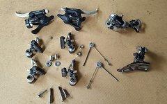 Shimano 8-Fach XT Set -RARITÄT- Retro Schaltwerk+Umwerfer+Brems-Schalthebel