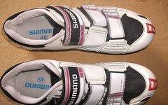Shimano Rennrad-Schuhe R099, Größe 45, weiß/schwarz
