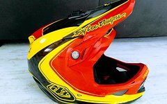 Troy Lee Designs D3 Carbon Helm - Mirage rot/gelb