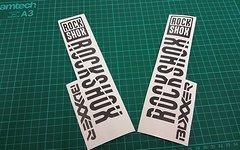"""Decals Rock Shox Modelle in 27.5"""" viele Farben"""