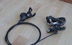 Shimano Saint Schaltwerk Shadow Plus RD-M820 10-fach, inkl. Schalthebel und Schaltseil/Hülle