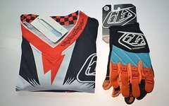 Troy Lee Designs 55.€ inkl.versicherter Versand mit DPD-GP Jersey Cyclops größe XL + Handschuh GP Motocross Enduro BMX Downhill GR: L