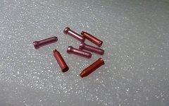 Alu, Rosa/pink 7x Quetschhülsen / Endkappen Schalt-/Bremszug