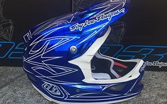 Troy Lee Designs D3 HELM PINSTRIPE 2 BLUE CHROME 2016