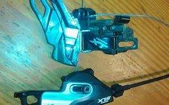 Shimano Umwerfer XT mit Trigger / Schalthebel SLX