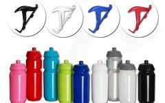 Tacx SET Trinkflasche 750ml 500ml & bunter Flaschenhalter