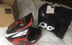TSG Fullface Helm Advanced Carbon + Helmtasche