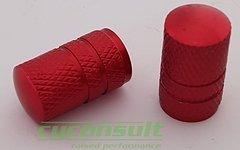 Aluminium AV Ventildeckel Set *rot* (AV / Autoventil)