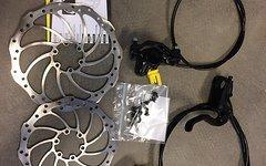 Magura MT2 Komplett mit Adapter und Scheiben