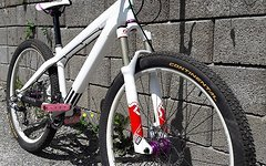 Canyon stitched Rock Shox sid syncross dirt bike girl