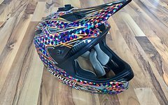 Specialized Dissident Carbon Full Face Helm  Shredded Clown Gr.M