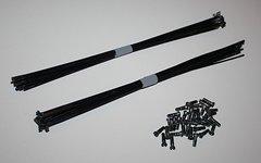 Sapim 2,0/1,8/2,0 Speichen - schwarz - 260mm - 32Stk. + Messingnippeln