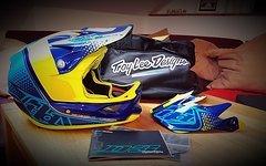 Troy Lee Designs D3 Starburst Yellow Fullface Helm M*NEU*