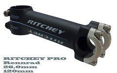 Ritchey Pro Rennrad Vorbau - 120 mm 26,0 mm 6 / 84 Grad schwarz matt