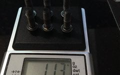 Unbekannt Ti 6x Vorbau Imbus Schraube konisch Titan M5x15 schwarz