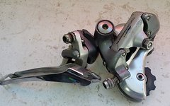 Shimano 600 Tricolor Schaltwerk und Umwerfer Retro