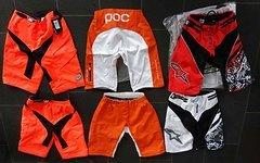 """POC DH Short 32"""" M Orange/weiss Nagelneu"""