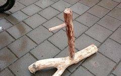 Fahrradständer Holz Design Einzelstück