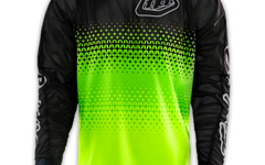 "Troy Lee Designs SE AIR JERSEY ""Gr. L"" STARBURST FLO YELLOW/BLACK"