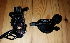 SRAM X5 Umwerfer 2x10 Direct Mount Down Pull + Schalthebel