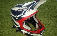 "Troy Lee Designs D3 Composite Helm Reflex White ""LARGE"""