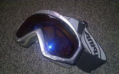 Alpina Bikebrille / Skibrille blau verspiegelt
