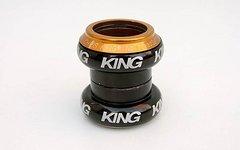 "Chris King NoThreadSet 1 1/8"" schwarz/gold neuwertig"