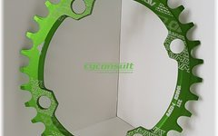 Narrow Wide Oval Kettenblatt, 32T, 104er Lochkreis *grün* oval