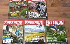 Freeride Magazin 5 HEFTE LAUT FOTO