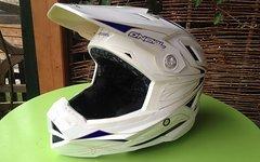 O'Neal Airtech Helm, weiß/blau, Größe: L (59-60cm)