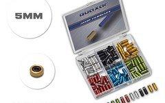 Quaxar SET bunte Alu 5mm Endhülsen gedichtete - eloxiert Aluminium