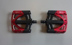 Crankbrothers 5050 Flat pedals / Pedale v3 schwarz-rot