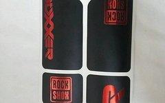 Gabeldecals Rock Shox Boxxer 2010-2012 Aufkleber Satz, Chrome Rot/Matt Schwarz Design