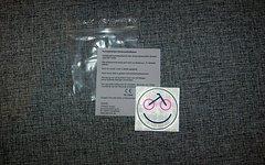 Reflektierender Sticker Fahrradsmiley rund