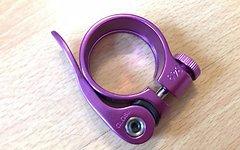 Risk Sattelklemme Schnellspanner, Purple/Lila, 34.9mm *neu*