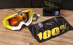 100% Accuri Goggle yellow/white *NEU*