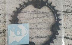 Wolftooth Kettenblatt Oval 1-fach | LK 104 schwarz 34 Zähne