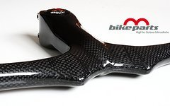 M-Bike Parts, Feathery Carbon MTB Lenker mit Vorbau, - MTV Carbon 620 x 100 mm 235g.