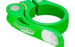 Reverse Components Sattelschelle LONG LIFE Ø34.9mm Neon Green Seatclamp with brass washer- LONG LIFE clamp 46g