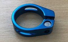 Aluminium Sattelklemme Blau 34,9mm