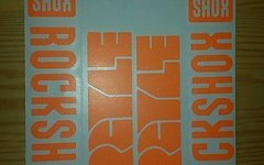 Evocore Design Rock Shox Argyle Sticker Set in NEONORANGE