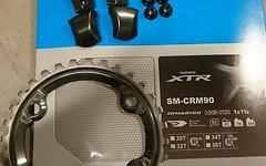 Shimano XTR 11-fach Kettenblatt + Schrauben/Abdeckung - SET SM-CRM90 32 Zähne für FC-M9000/9020 inkl. Kettenblattschrauben für Umbau von 2-fach