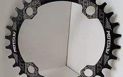Narrow Wide Oval Kettenblatt, 34T, 104er Lochkreis *schwarz* oval