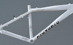 "Brave Dirt - Dual Mountainbike Rahmen 42 cm weiss 26"""