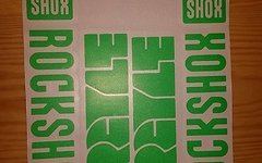 Evocore Design Rock Shox Argyle Sticker Set in NEONGRÜN