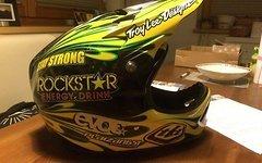 Troy Lee Designs Helm D2 Flame blk/yellow Gr.M/L