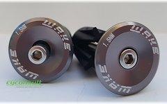 Aluminium Race Bar-End-Saver Lenkerabschluß SETPREIS *titan grey*