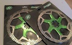 Reverse Components Bremsscheiben 200mm Grün Neu & Ovp Disc
